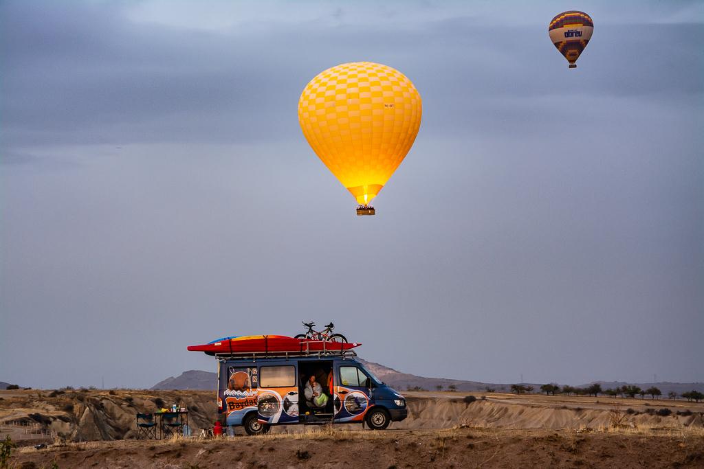Обзорная площадка воздушных шаров. Каппадокия