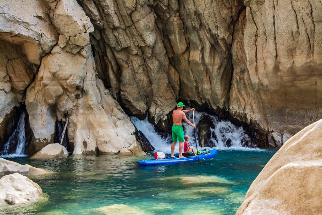 На сапі з дитиною по Зеленому каньону