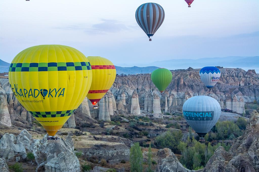 Воздушные шары, Каппадокия