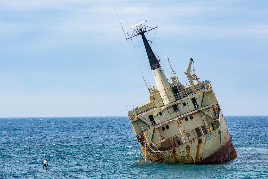 САП, Кипр. Затонувший корабль Эдро 3.