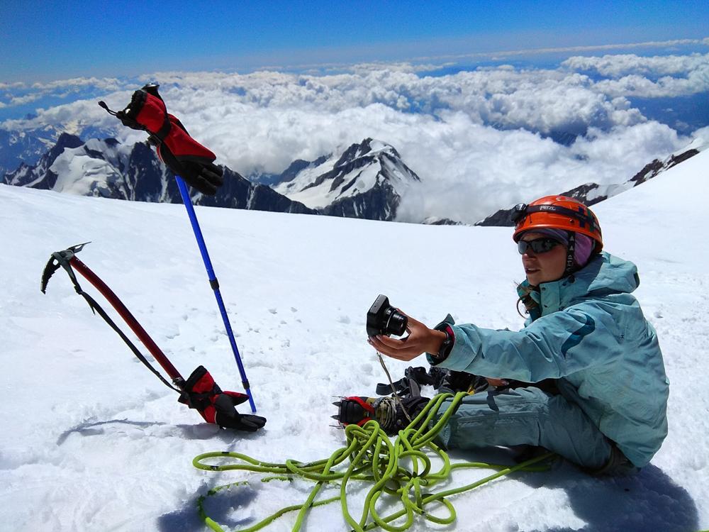 Анастасия Драгомерецкая в горах