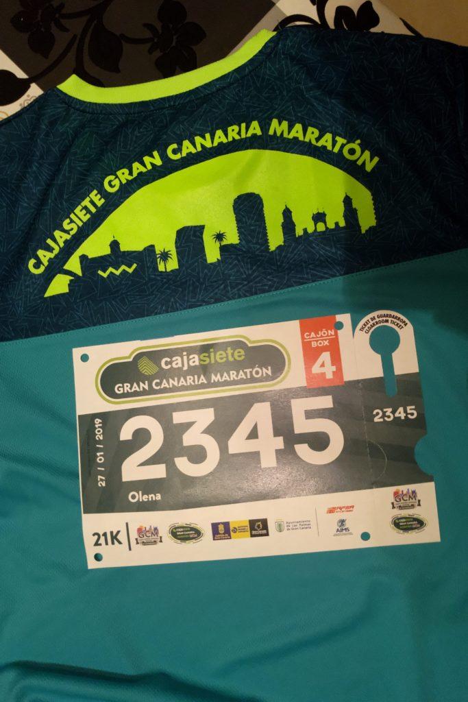 Стартовый номер на Гран-канария марафон