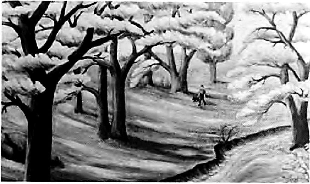 Картина невідомого менонітського художника «Балка Schlehtal»